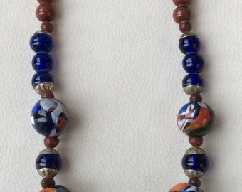 Beautiful Murano Glass Bead Necklace.