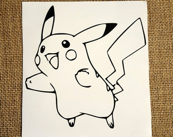 Pikachu Decal Pikachu Car Decal Pikachu Sticker Pokémon Decal Pokémon Car Decal