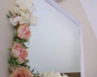 Shabby Chic White Mirror 84cm x 68cm