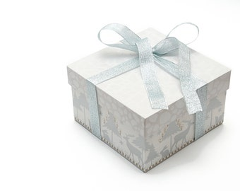 Christmas gift wrapping - Gift box with lid - finishing touch of presentation - Option Per Item