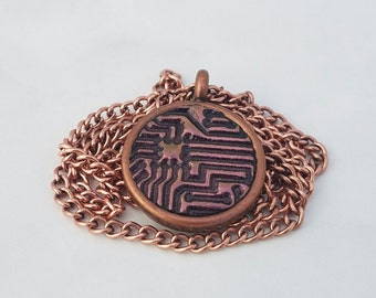 Copper Circuit Board Pendant