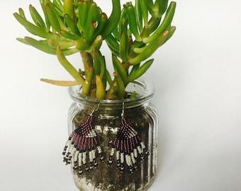 Short tassel earrings/African beaded earrings /ethnic earrings /tribal earrings / festival earrings /boho