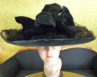 BURGESSER Lampshade Hat, Titanic Era Hat, Antique Hat, Edwardian Hat, antiker Hut, ca. 1912