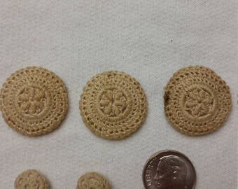 Vintage Cocheted Covered Buttons