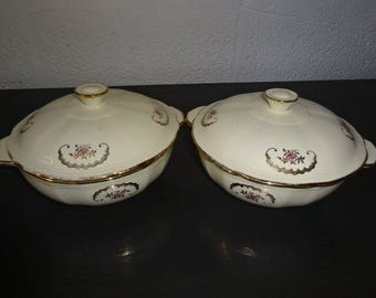 2 Very Pretty Alfred Meakin Serving Bowls with Lids/Vintage