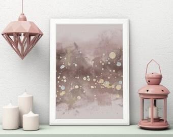 Rose Gold Poster, Rose Gold Art, Rose Gold Wall Art, Art Print, Home Decor, Nursery Abstract Art