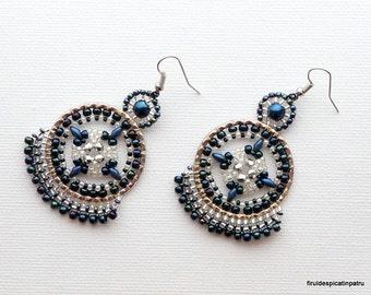 Beautiful Cosmos Earrings Tutorial / Beaded Earrings Tutorial / Miguel Ases Style Earrings / Earring Beading Pattern / DIY Beaded Jewelry