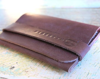 Single pocket handmade leather wallet