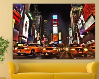 new york taxi art etsy. Black Bedroom Furniture Sets. Home Design Ideas