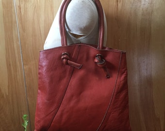 Vintage tote bag with chunky knot handles