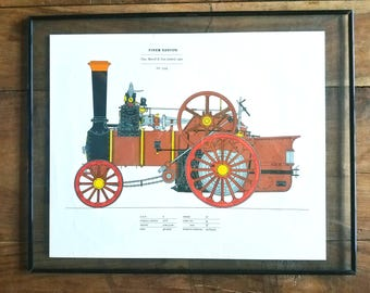 Steam engine Lithograph, Chas Burrell & Sons Limited, Steam Engine art, Steam Engines, Ealry Steam Engines, Steam Engine Prints