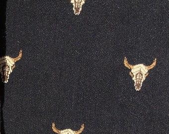 3 Yards Buffalo Skull Tapestry NEW!