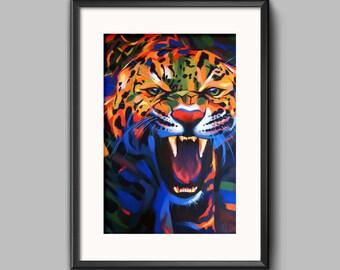 Jaguar - Giclee print