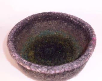 Lilac Charcoal Felt Bowl
