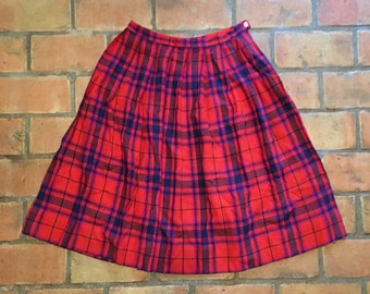 Madras Plaid Skirt
