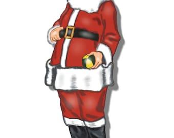 Santa Claus Men's costume pattern, size 52 LARGE