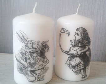 Alice in wonderland candles (set of 2)