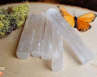 Selenite Crystal Wand with pouch - Crystal Healing - Crystal Healing - Yoga - Reiki