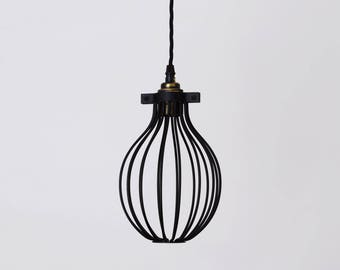 Handmade Closed Cage Wire Pendant Shade