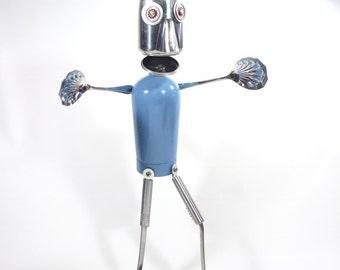 Hug-a-Bot  Upcycled Robot Sculpture   -  Hug-a-bot 1