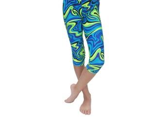 Girls Capri Leggings, Spandex Youth Leggings