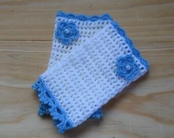 Fingerless gloves, Crochet mittens, Crochet Winter gloves, White Mittens,  gift