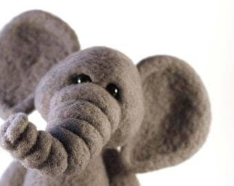 Needle Felted Wool Elephant