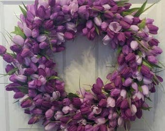 Tulip wreath / spring wreath / summer wreath / front door wreath / holiday wreath / door wreath