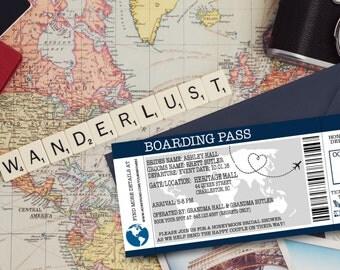 Boarding Pass Honeymoon Shower Invitation- Digital Download!