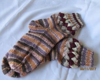 Hand Knit Entrelec Socks
