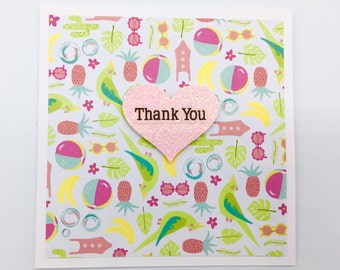 Thank You Greeting Card, Thank You Card, Thanks, Love Heart,