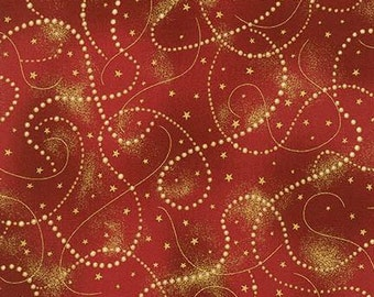 Country Metallic Gold Ivory Beads designed by Peggy Toole for Robert Kaufman Fabrics #APTM-15150-276
