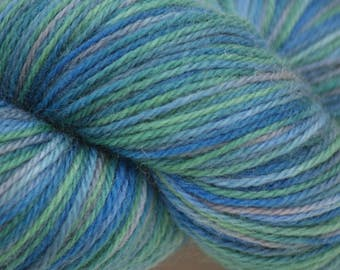 "Wool/Nylon Sock Yarn Hand-painted ""Pearl"""