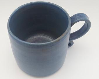 Hand thrown textured mug