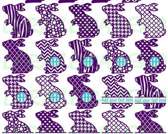 60 % OFF, Rabbits Svg, Easter Bunny Monogram Frames, Rabbits Monogram, Bunny Silhouettes, Easter Bunny Clipart, svg, dxf, eps