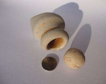 Beach Clay Marble - Clay Pot Lid - Beach Clay Pottery - Vintage Clay Beach Finds - Sea Clay Pottery - Beach Glass - (023)