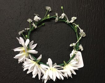 Handmade Bendable Tiny Baby Daisy Flower Crown