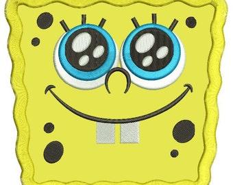Spongebob Applique Design 3 sizes instant download