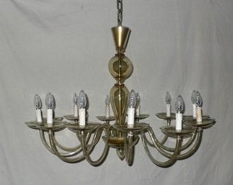 Vintage 1970's Murano glass chandelier- 12 light