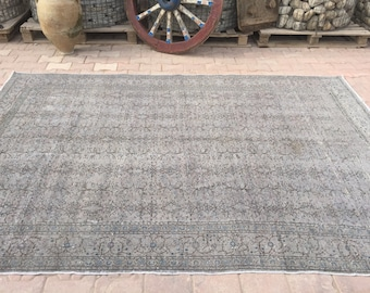 Superb Home Decor Rug,Vintage Grey Oushak, Grey Color Vintage Large Rug,Rugs,