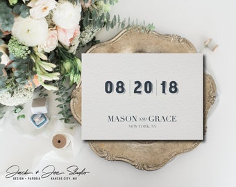 Wedding Save The Date - Manhattan - Digital Download