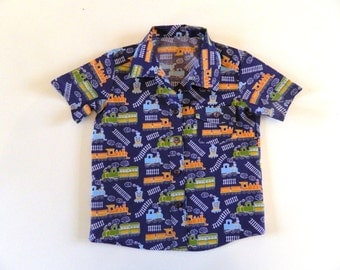 Boys Train Shirt Navy Toddler Baby VARIOUS SIZES