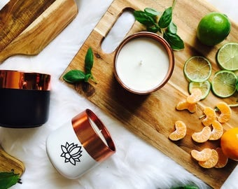 Copper + Black Scented Soy Candle   Sixteen And Co.