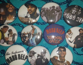 10 Pin Button set Mobb Deep 1 inch Buttons