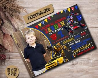 Transformers Invitation / Transformers Birthday Invitation / Transformers Party / Transformers Invite / Transformers Birthday / Transformers