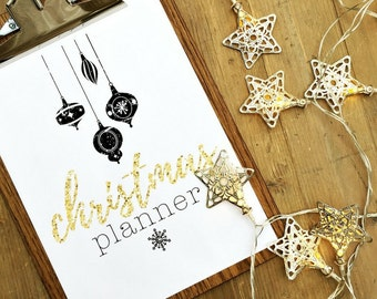 CHRISTMAS PLANNER PRINTABLES - 54 Pages - Instant Download - A4