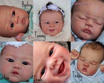 CUSTOM REBORN BABY ~ Sandy Faber Kit ~ You choose! ~ 6 month layaway