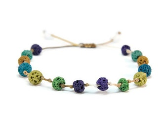 Boho Candies * Lava Boho Style Pull - Tie Bracelet