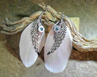 Ammo Feather Wing Earrings 45 Auto/bullet Jewelry