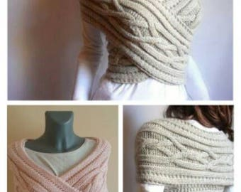 Women's poncho knitted winter